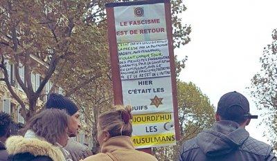 Manifestation contre l'islamophobie